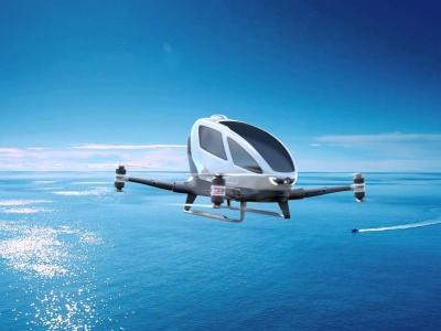 Lietajúci dron EHANG 184 AAV na prepravu osôb už lieta v Dubaji, kedy bude u nás?