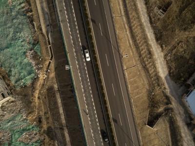 Pohľad na solárnu diaľnicu zhora